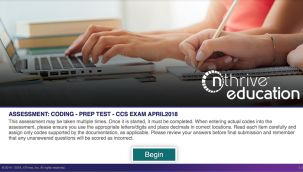 Assessment: CDI - Prep Test - Exam Oct2018