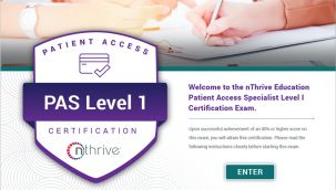 Certification Exam: Patient Access Specialist Level 1 Sept2020