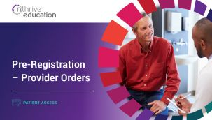 Patient Access: Pre-Registration - Provider Orders