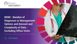 E/M Coding: MDM - Number of Diagnoses or Management Options and Amount and Complexity of Data - Excluding Office Visits